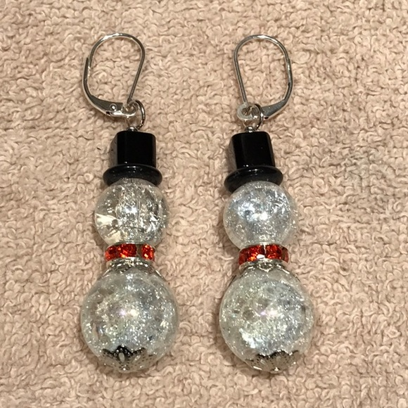 559beac85b0d5 Christmas Earrings! Big and bold snowmen